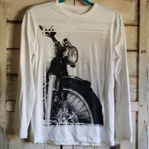 Cherokee Long Sleeve Tee Shirt Motorcycle Graphic